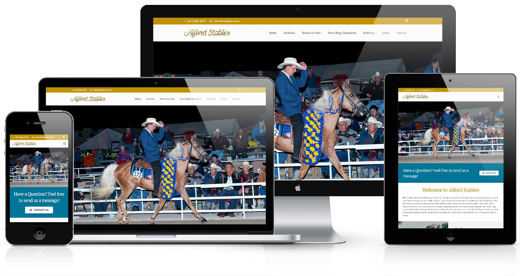 alford stables website desktop mobile responsive retina