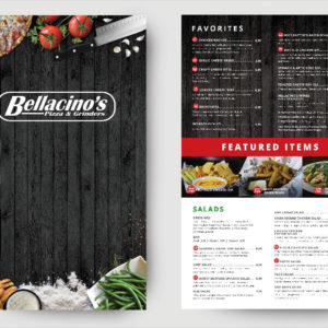 bellacinos food menu 1